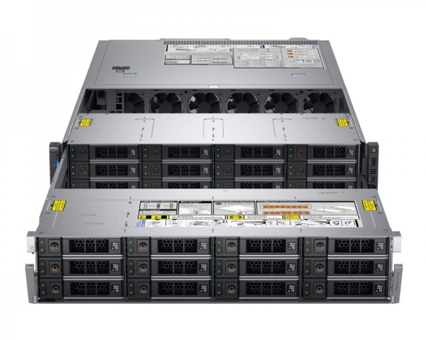 DELL PowerEdge R740XD2 1x Xeon Sliver 4110 8C 1x16GB H730P 12x2TB NLSAS 1100W (1+1) 3yr NBD + Sine za Rack