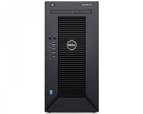 DELL PowerEdge T30 Xeon E3-1225 v5 4C 1x8GB 1TB DVDRW 3yr NBD