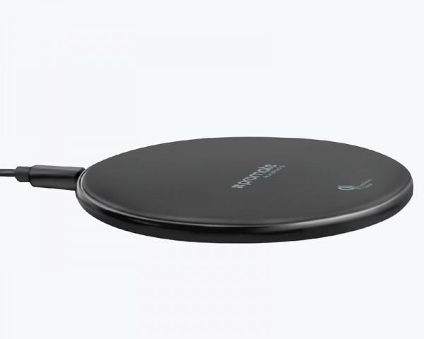 PROMATE AuraPad-3 Ultra-Fast wireless punjač sa Led svetlom crni
