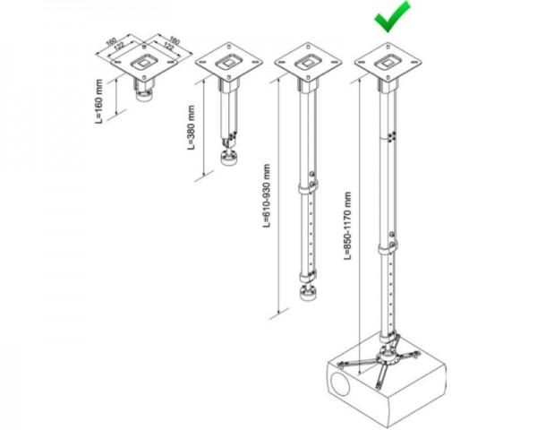 VEGA CM 25-1170 univerzalni plafonski nosač za projektor
