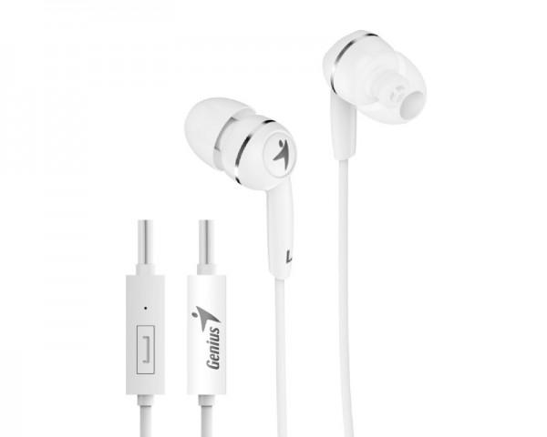 GENIUS HS-M320 slušalice sa mikrofonom bele
