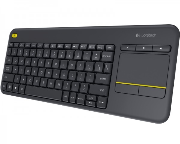 LOGITECH K400 Plus Wireless Touch US crna tastatura