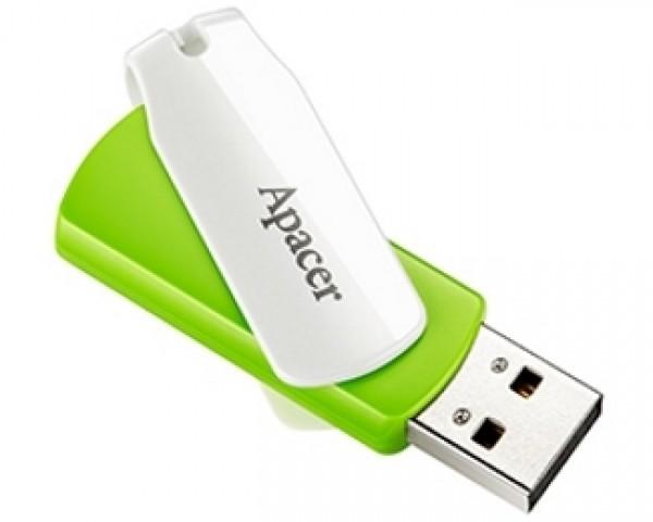APACER 64GB AH335 USB 2.0 flash zeleni