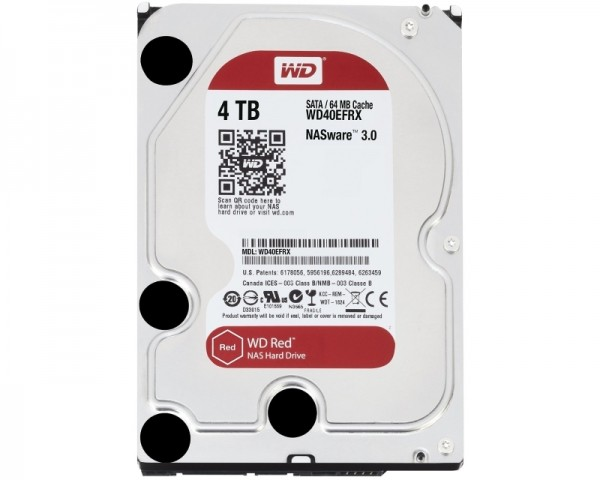 WD 4TB 3.5'' SATA III 64MB IntelliPower WD40EFRX Red