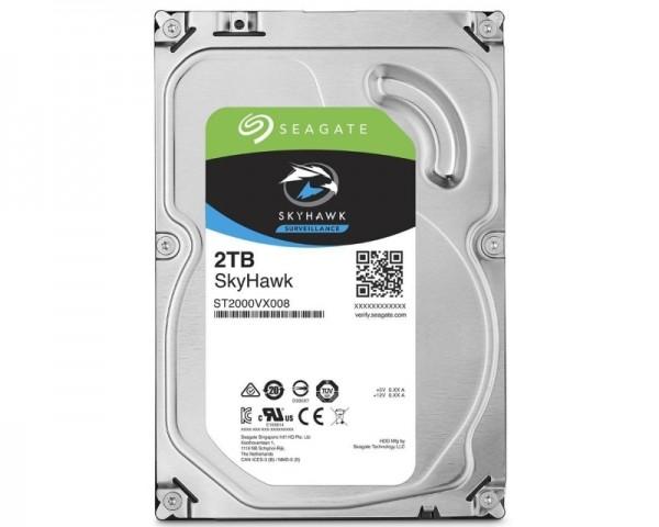 SEAGATE 2TB 3.5'' SATA III 64MB ST2000VX008 SkyHawk Surveillance