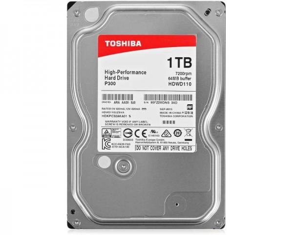 TOSHIBA 1TB 3.5'' SATA III 64MB 7.200rpm HDWD110UZSVA P300 series bulk