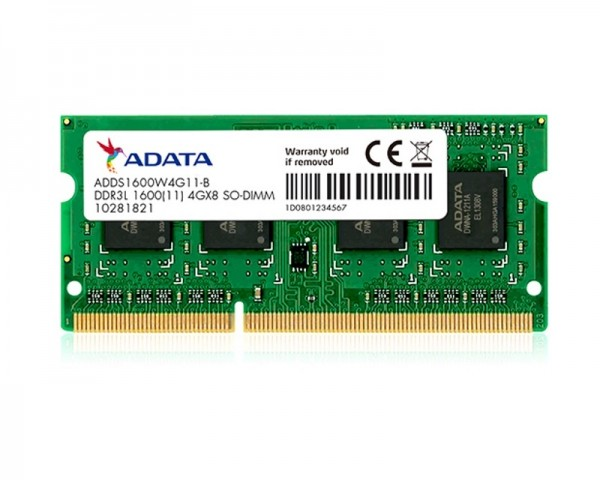 A-DATA SODIMM DDR3 4GB 1600MHz ADDS1600W4G11-S