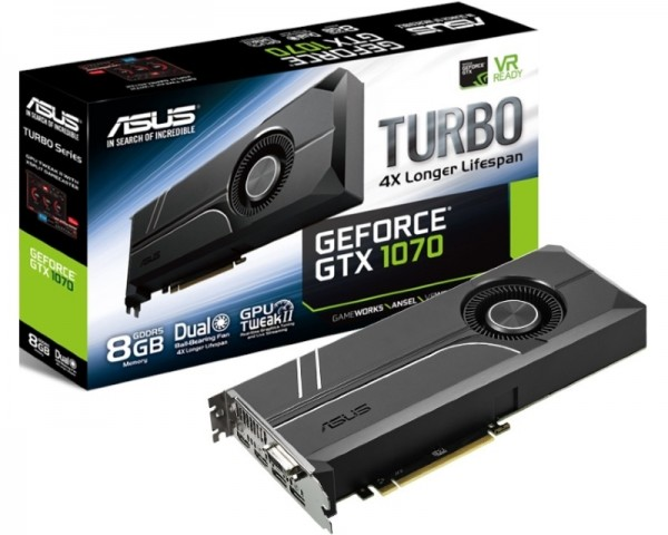 ASUS nVidia GeForce GTX 1070 8GB 256bit TURBO-GTX1070-8G
