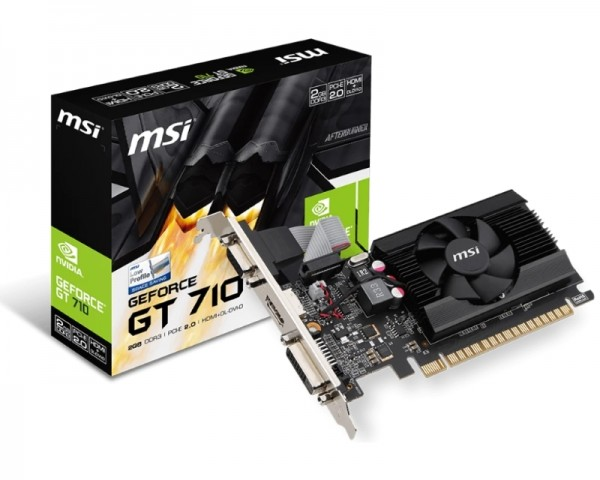 MSI nVidia GeForce GT 710 2GB 64bit GT 710 2GD3 LP