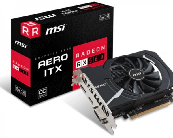 MSI AMD Radeon RX 560 4GB 128bit RX 560 AERO ITX 4G OC