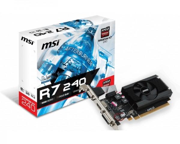 MSI AMD Radeon R7 240 2GB 64bit R7 240 2GD3 64b LP