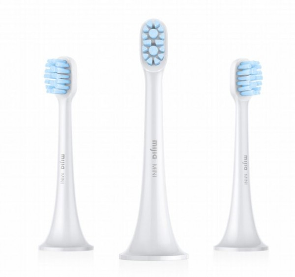 Xiaomi Mi Electric Toothbrush Head, 3-pack,mini, Light Grey