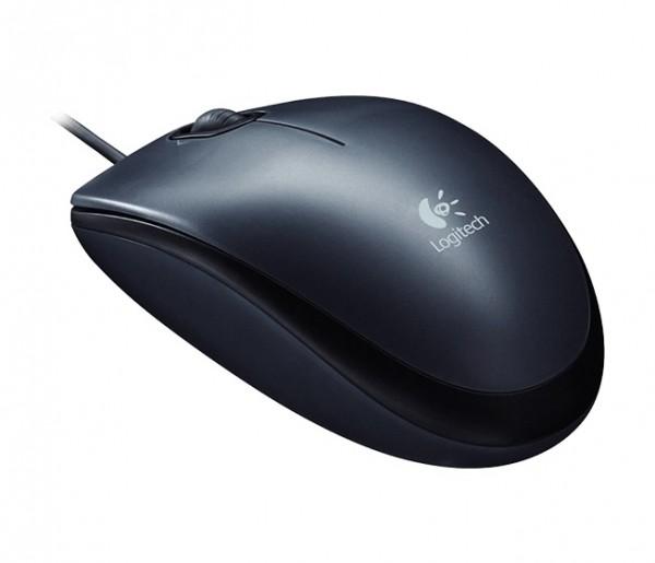 Logitech M100 Optical Corded Mouse, Black