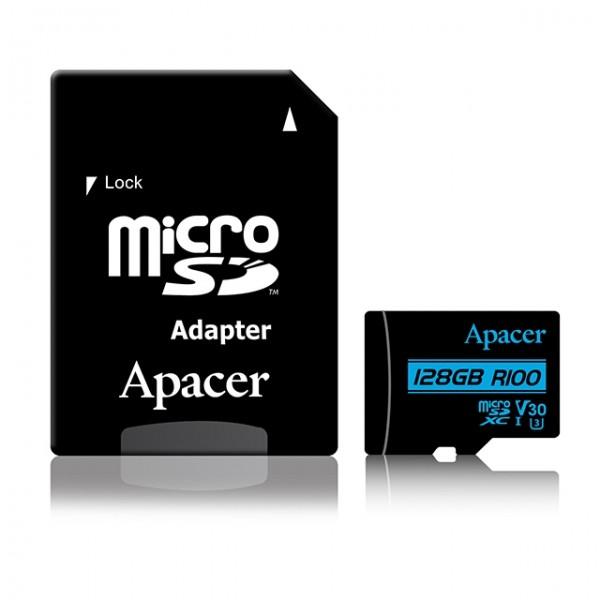APACER UHS-I MicroSDHC 128GB V30 + Adapter AP128GMCSX10U7-R