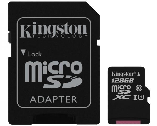 KINGSTON UHS-I MicroSDXC 128GB 80R class 10 SDCS128GB + adapter