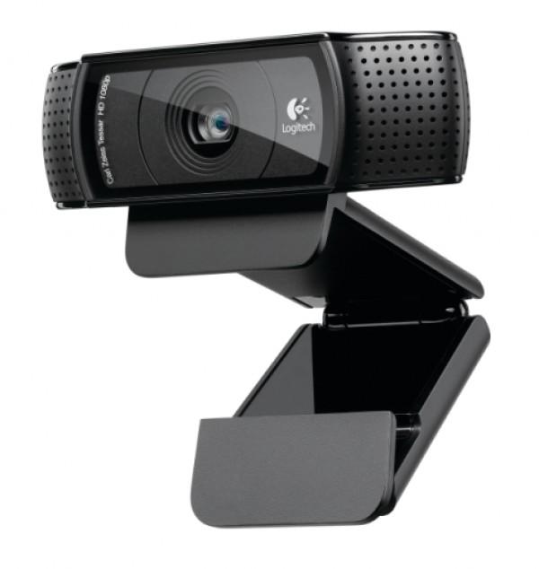 Logitech C920 HD Pro Webcam, Black