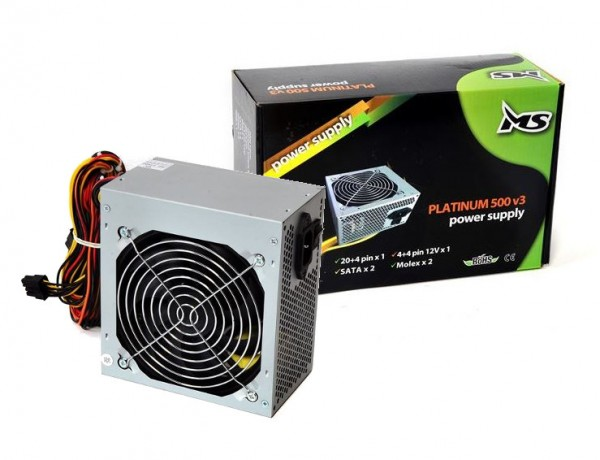 MS Napajanje MS-500 Napajanje 500W 12cm fan