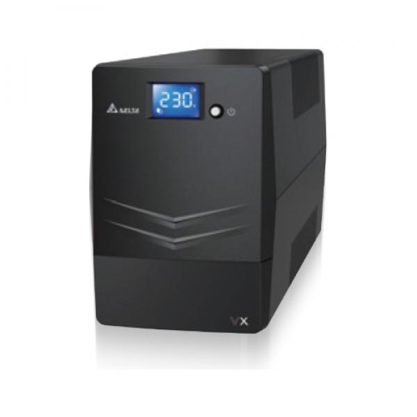 Delta UPS Agilon VX-1000VA Line-interactive 1000VA/600W (12V7Ah x 2pcs) IECx4 LCD USB Tower