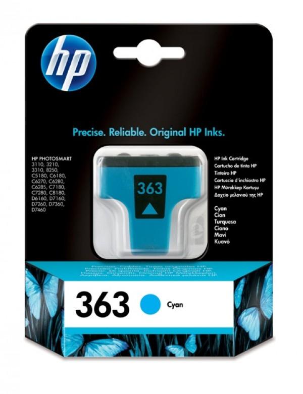 HP Kertridž C8771EE No.363 Cyan