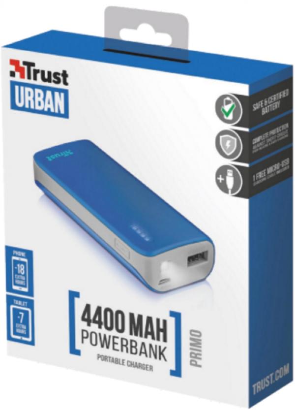 Trust Primo PowerBank 4400 prenosivi punjac plavi