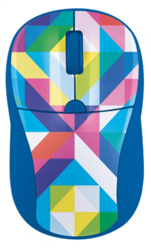 Trust Primo bezicni miš plavi - geometry print