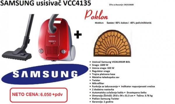 SAMSUNG Usisivač VCC4135S3RBOL, + Otirač
