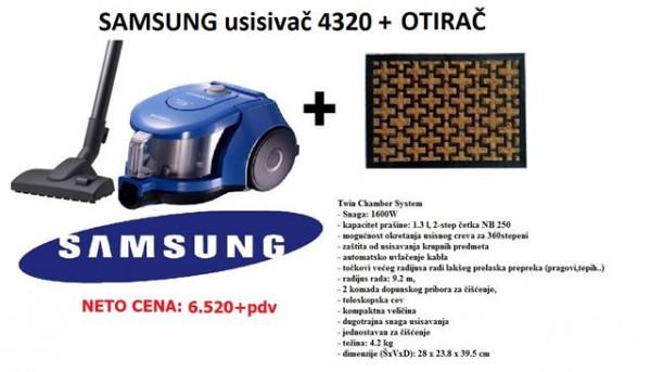 SAMSUNG Usisivač VCC4320S31BOL + Otirač