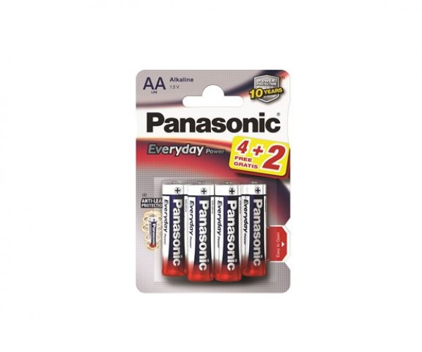 PANASONIC baterije LR6EPS6BP -AA 6kom, Alkaline Everyday power