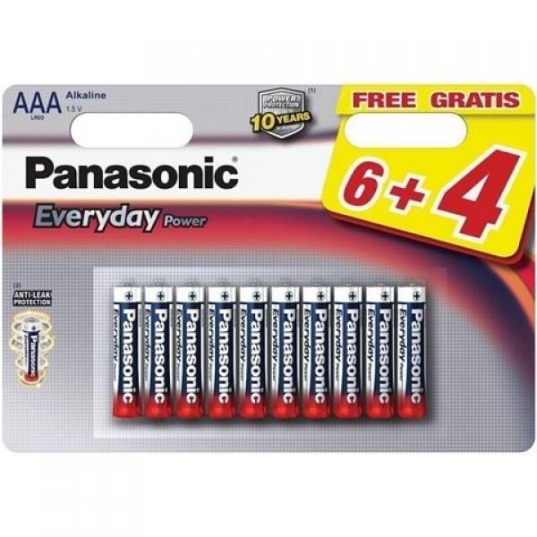 PANASONIC baterije LR03EPS10BW-AAA 10 kom 6+4F Alkalne Everyday