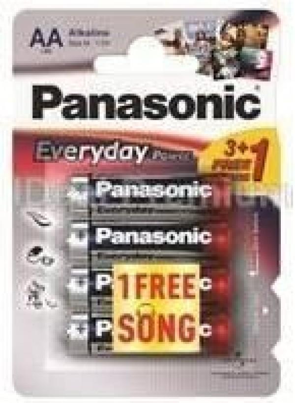 PANASONIC baterije LR6EPS4BP -AA 4kom 3+1F Alkaline Every