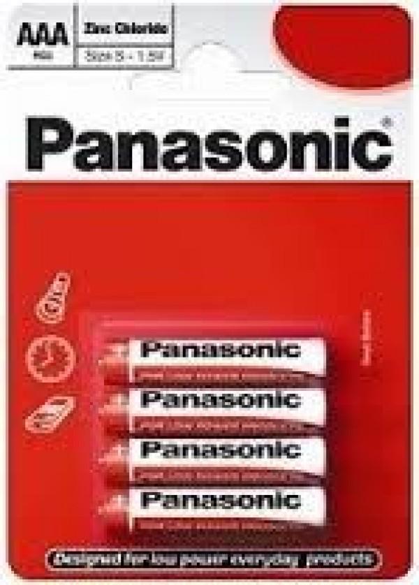 PANASONIC baterije R03RZ4BP - 4× AAA Zinc Carbon