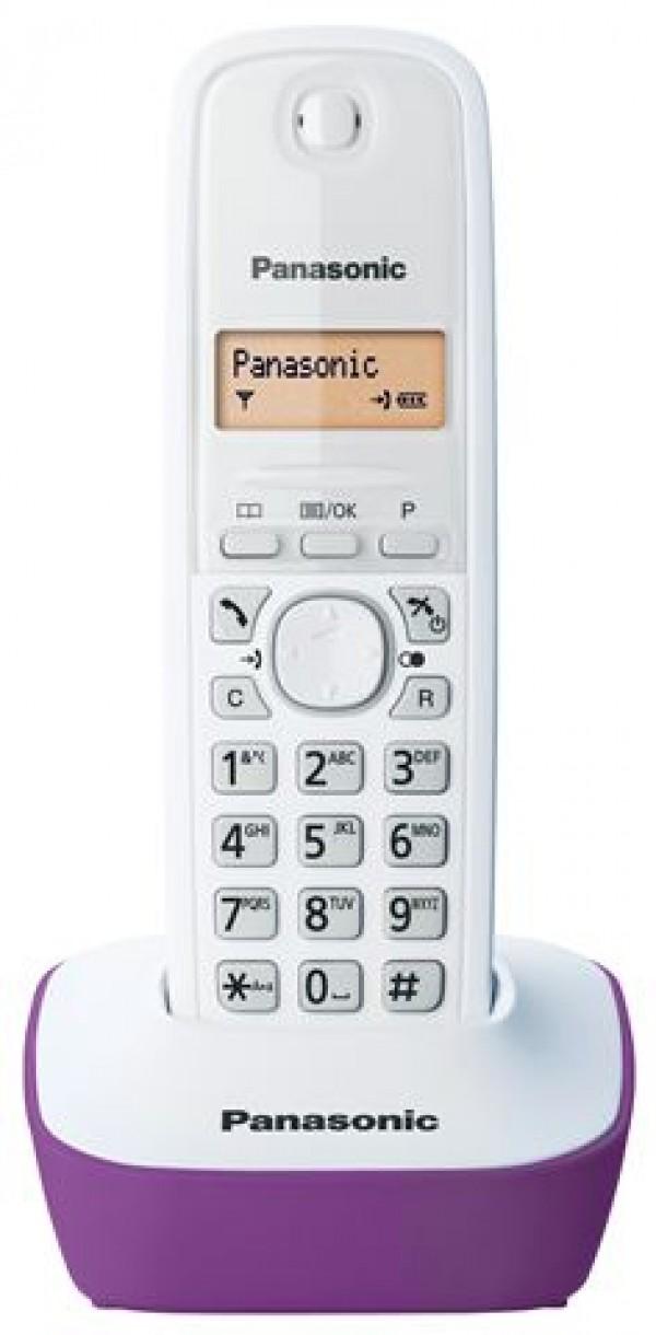 PANASONIC telefon KX-TG1611FXF belo-ljubičasti