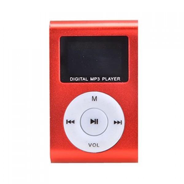 GIGATECH MP3 Player GMP-13 FMLCD crveni