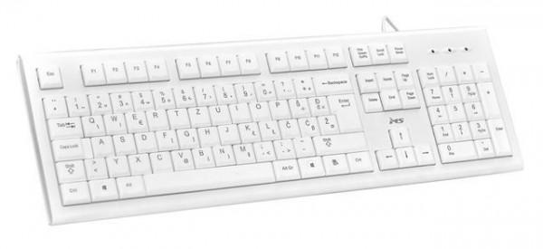 MS KB-ALPHA USB žična tastatura bela