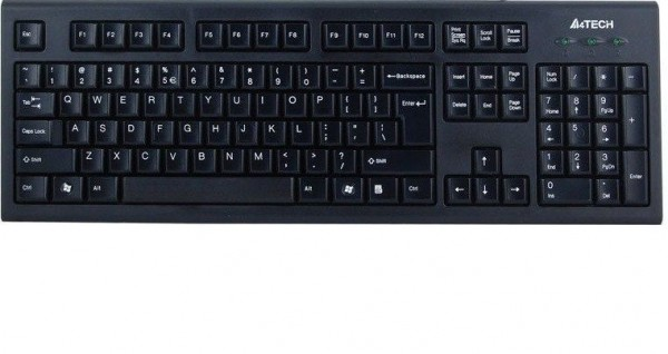 A4-TECH A4-KR-85 Comfort Round tastatura, YU Layout, black colour, USB (623)