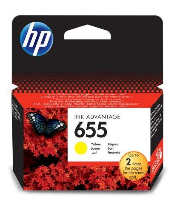 HP 655 Yellow Ink Cart. CZ112AE HP Deskjet Ink Advantage 3525, 4615, 4625, 5525, 6525 e-All-in-One