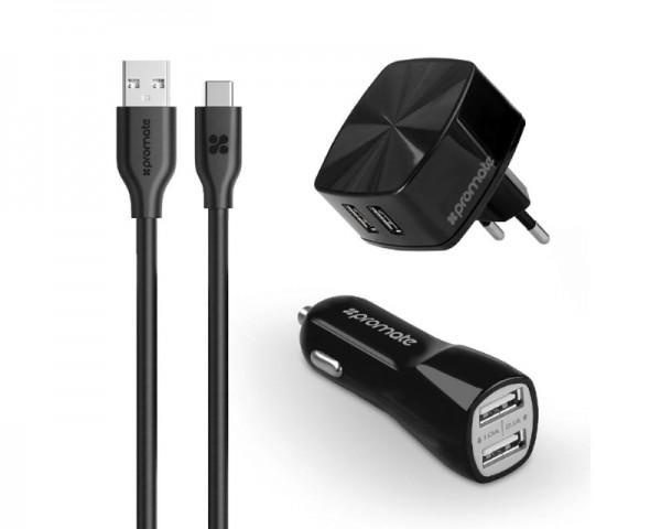 PROMATE UniCharger Ultra-Fast 3-u-1 punjač za USB-C