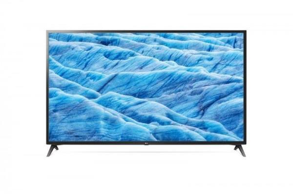 LG 70UM7100PLB LED TV 70'' Ultra HD, WebOS ThinQ AI, Ceramic Black, Two pole stand
