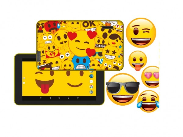 eSTAR Themed Tablet Emoji  ARM A7 QC 1.3GHz1GB8GB0.3MPWiFiAndroid 7.1Emoji Futrola
