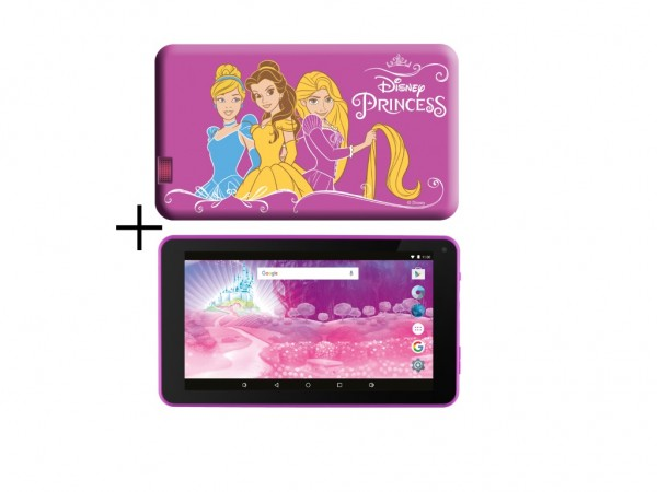 eSTAR Themed Tablet Princess 7'' ARM A7 QC 1.2GHz1GB8GB0.3MPWiFiAndroid 7.PinkPrincess Futrola