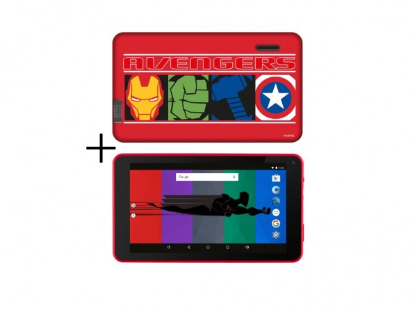 eSTAR Themed Tablet Avengers 7'' ARM A7 QC 1.3GHz1GB8GB0.3MPWiFiAndroid 7.1Avengers Futrola