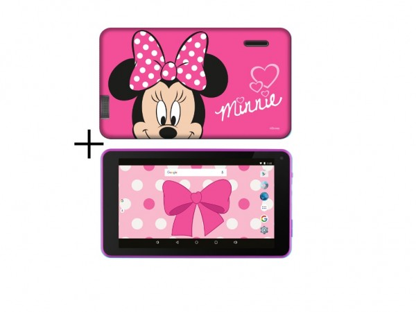 eSTAR Themed Tablet Minnie Mouse 7'' ARM A7 QC 1.3GHz1GB8GB0.3MPWiFiAndroid 7.1Minnie M.Futrola