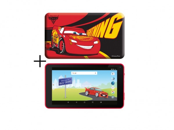 eSTAR Themed Tablet Cars 3 7'' ARM A7 QC 1.2GHz1GB8GB0.3MPWiFiAndroid 7.1RedCars futrola