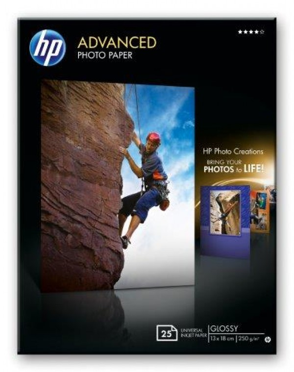 HP Advanced Glossy Photo Paper 250 gm2-13 x 18 cm borderless25 str.[Q8696A]