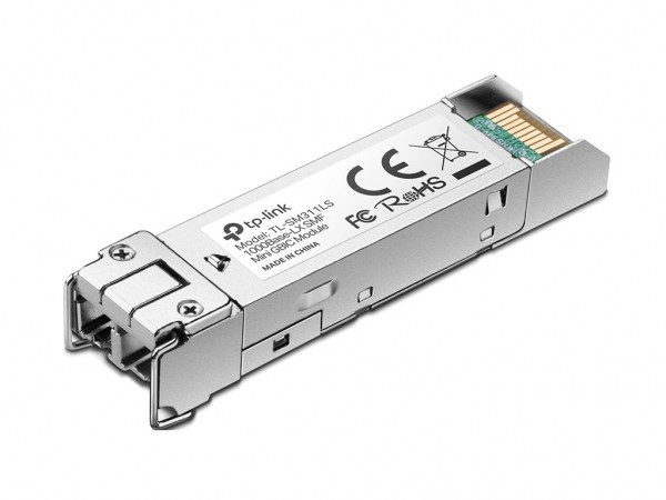 TP-LINK Gigabit SFP module, Single-mode, MiniGBIC, LC interface, Up to 10km distance