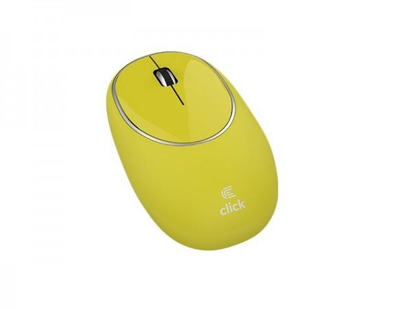Click M-W2-SW Miš bežični USB, gumeni, žuti