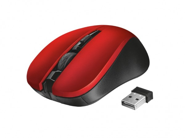 Trust Mydo Silent Click Wireless Mouse - red