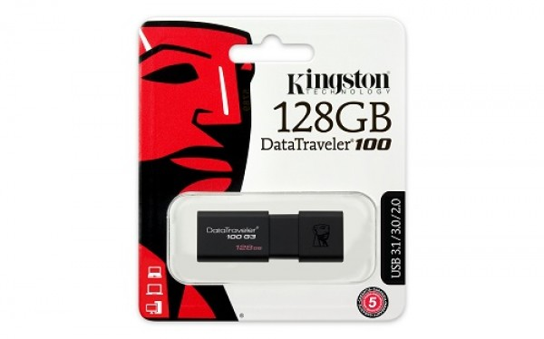 Kingston 128GB DT 3.0 DT100G3128GB crni
