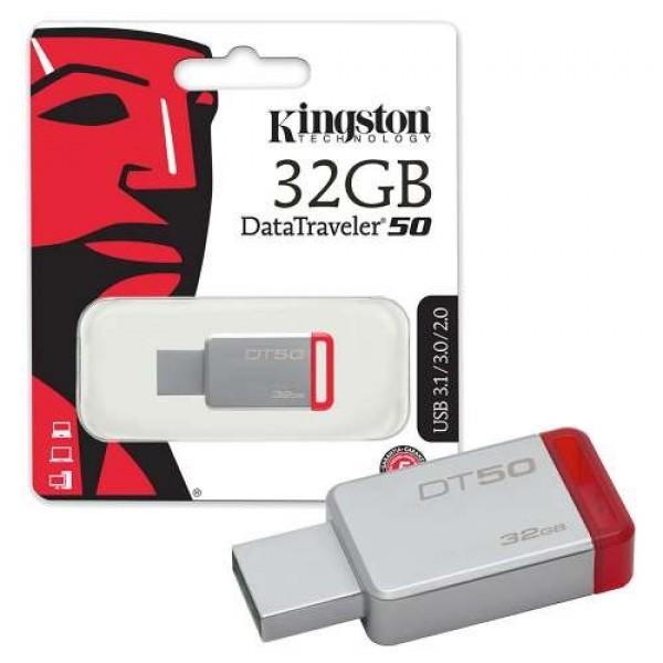 Kingston 32GB DT USB 3.0 DT5032GB metal - crveni