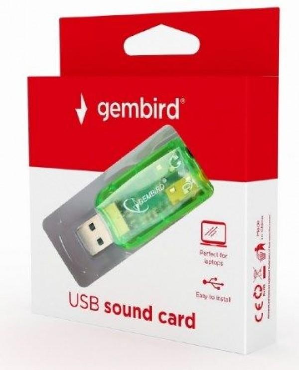 GEMBIRD SC-USB-01   USB 5.1 3D zucna karta, zamenjuje audio kontroler u racunaru